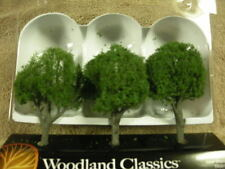 "Woodland Scenics 4"" 5"" COOL SHADE 3/PK green  HO Scale (1:87)"