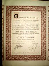 GAMESA,Sta.Coloma Gramanet,Share certificate,Spain 1964