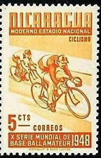 NICARAGUA 1948 CYCLING sports BICYCLISTS MNH (do not NEED TO BUY WHOLE SET)