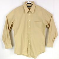Christian Dior Mens sz 15 1/2 Tan Le Chemise Long Sleeve Button Down Dress Shirt