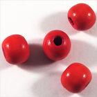 Set de 50 cuentas redondas de madera 10mm Rojo Claro