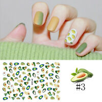 Nail Stickers Cute Cactus Heart Patterns Transfer Decals Nail Art Design Decors