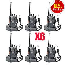 6 Pack Walkie Talkie 2 Two Way Radio Handheld Long Range Marine Police Frs GMRS