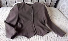 Vintage mid brown jacket MONDI W Germany Size 38 & 12 Wool mix