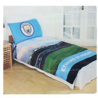 Manchester City FC Stadium Single Duvet Cover Set Kids Adults 100% Cotton