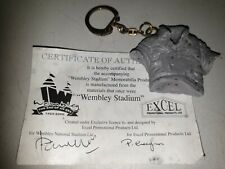 More details for rare wembley stadium end of an era 1923-2000 keychain made from the stadium