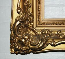 """French Antique Louis XV ornate carved gilded frame mirror 20""""x30"""" Estate Sale"""