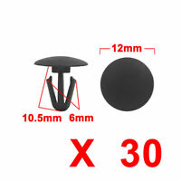 Black Car Door Trim Panel Hood Plastic Rivet Fasteners Clips 6mm Hole Dia 30pcs