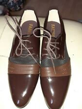 Mens Brown Lace Up Shoes Size 8