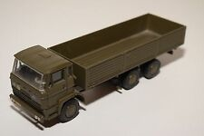 LION CAR DAF 2100 TRUCK LONG CHASSIS ARMY GREEN N MINT CONDITION RARE SELTEN