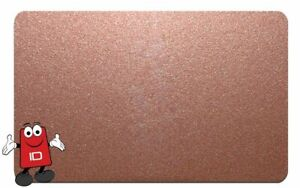 Copper Metallic PVC Plastic ID Cards CR80 760 Micron 30mil - Pack of 100
