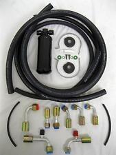 Universal Beadlock Fitting AC Hose Kit w/ Black Drier Air Conditioning Heat