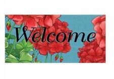 Geranium Welcome switch mat