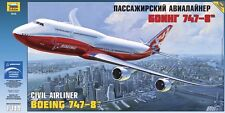 ZVEZDA 7010 BOEING 747-8 CIVIL AIRLINER SCALE MODEL KIT 1/144 NEW