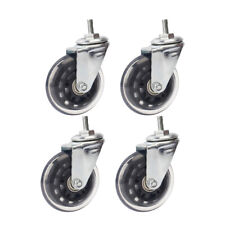 4 Pieces Quiet 3in Roller Caster Wheel for Office Chair Furniture Desk