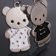 One pair Couples Keychain set Bear Couple Keyring For Lover Valentines Gift