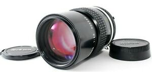 【 N.MINT 】 Nikon Ai Nikkor 135mm f/2.8 MF Telephoto Lens w/caps from JAPAN FedEx