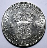 1924 Netherlands One 1 Gulden - Wilhelmina - Lot
