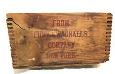 Antique Funk & Wagnalls Company New York Wooden Shipping Crate Literary Digest