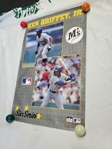 1990 Starline KEN GRIFFEY JR. Mariners Monster Poster 22x34 RARE
