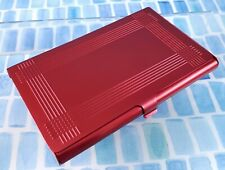Red Finished Aluminum Engravable Business Card Case