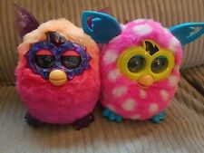 Furby Boom Pink & White Polka Dots Interactive Toy and non working crystal furby