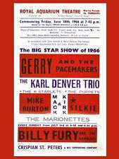 """Gerry and the Pacemakers Great Yarmouth 16"""" x 12"""" Photo Repro Concert Poster"""