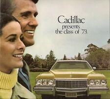 CADILLAC 1973 mercato USA 12pp BROCHURE DI VENDITA Fleetwood Eldorado Deville Calais