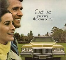 CADILLAC 1973 USA MARKET 12PP SALES BROCHURE Fleetwood ELDORADO Deville Calais