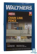 "Walthers #933-3125 Chain link fence Kit - Approximately 80"" 203cm, Up to 2 Gates"