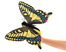 Swallowtail Butterfly Hand Puppet w/ Flappable Wings, Folkmanis MPN 3029, 3 & Up