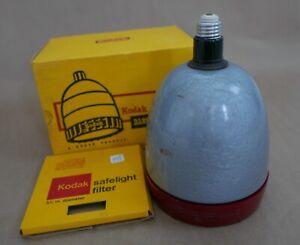 Kodak Darkroom Safelamp Model A, W/ OC Filter. Works, Original Box