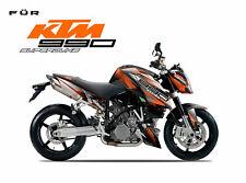 KTM Superduke 990 1290 R 690 Dekor Decal Wrap Kit Aufkleber - Racing Style