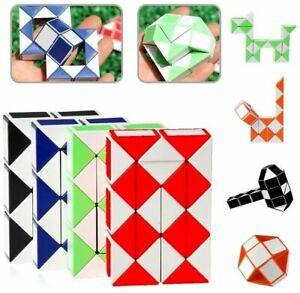 Magic Cube Puzzle Snake ~Twist It Into Various Shapes! ~Fun Creative Toy NEW☀️⭐️