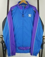 PEARL IZUMI XL Mens Full Zip Biking Cycling Long Sleeve Jacket Blue EUC