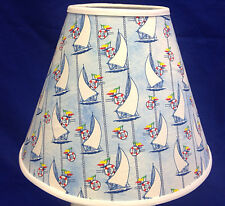 Sailboat Light Blue Handmade Lampshade Nautical Lamp Shade