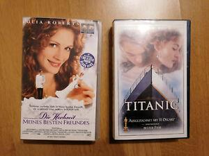 Videokassetten - Titanic - Die Hochzeit meines besten Freundes- Julia Roberts...