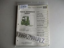 Clark Forklift C500-50LPG Quick Reference Guide Manual