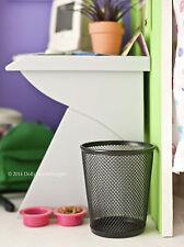 Black WASTE BASKET TRASH CAN for American Girl Doll House Bedroom Kitchen