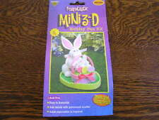 "Nicole Foamtastic Mini 3~D Spring Holiday Fun 4"" Bunny Craft Kit #4993~Nip!"