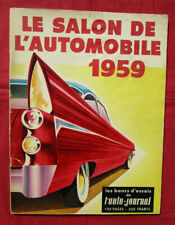 L'AUTO-JOURNAL   N° SPECIAL SALON de l'automobile 1959