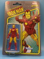 "Marvel Legends Retro Series Iron Man 3.75"" Action Figure on Cardback"