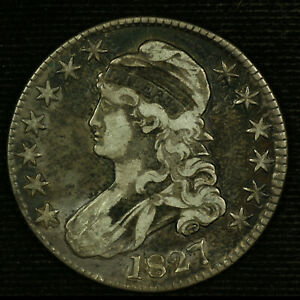 Capped Bust Half Dollar. 1827 Circulated. Lot # 9039-56-0027