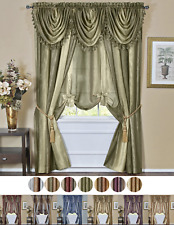 Ombre Crushed Satin Sheer Window Curtains & Valances - Assorted Colors & Sizes
