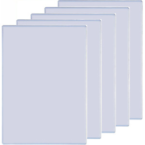 NEW 5x Marbig Document Sheet Paper Protector PVC Heavy Duty A4 Clear