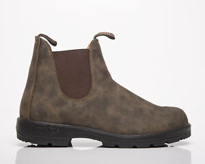 Blundstone 1615 Dark Olive Men's Brown Green Leather Lifestyle Shoes Boots