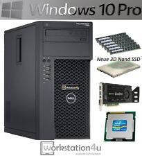 DELL T1650 Workstation Pc Intel Core i7 3770 RAM 16gb SSD 128gb Quadro K2000 W10