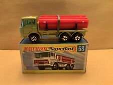 Matchbox Lesney Superfast No 58 DAF Girder Truck Green/gold Cab With Box