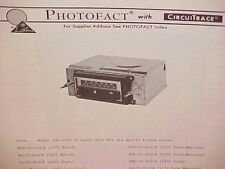 1975 AUDIOVOX 8-TRACK TAPE/AM-FM/MPX RADIO SERVICE MANUAL CHASSIS MODEL 136-1020