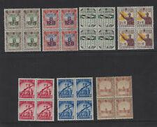 China Manchukuo 1930's-1940's Block of 4 Mint Mixed #16